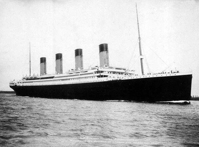 Titanic leaving Southampton April 10th 1912